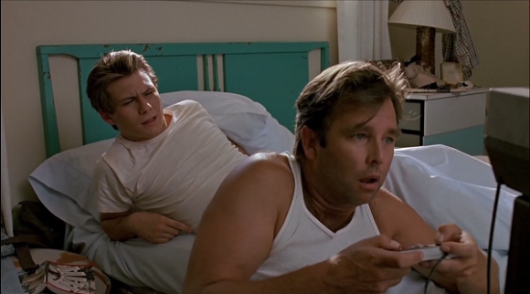 Beau Bridges and Christian Slater in 'The Wizard'