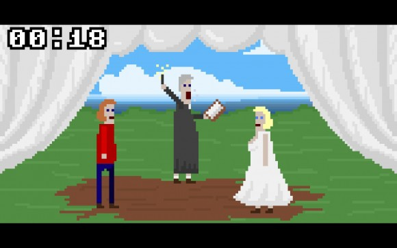 McPixel - Woman and Priest