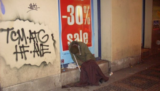 I looked for images called 'Random Conjecture' but just got pictures of The Big Bang Theory so instead here is a picture of a sad homeless guy in Prague