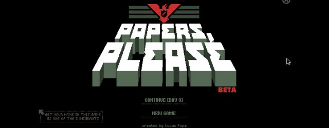 Glory to Arstotzka. Wait in line. Present your papers. 
