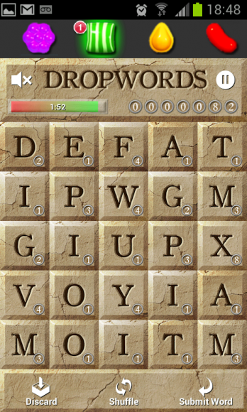 Dropwords screenshot
