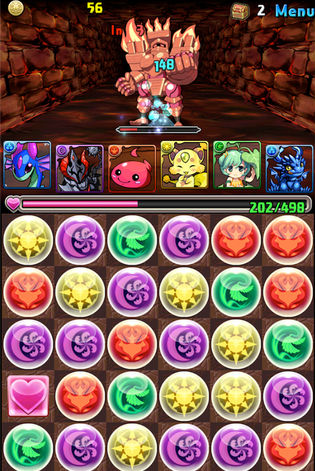 Puzzle & Dragons in-game