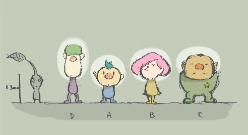 Pikmin 3 court sketches