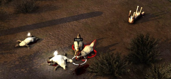 Wasteland 2 - Vulture's Cry being attacked by giant honey badgers