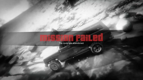 GTA V Mission Failed