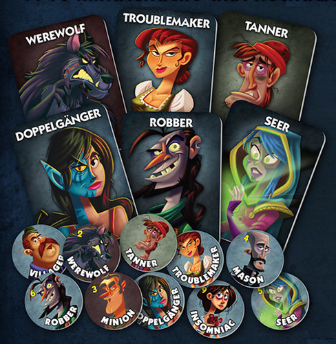 One Night Ultimate Werewolf cards & tokens